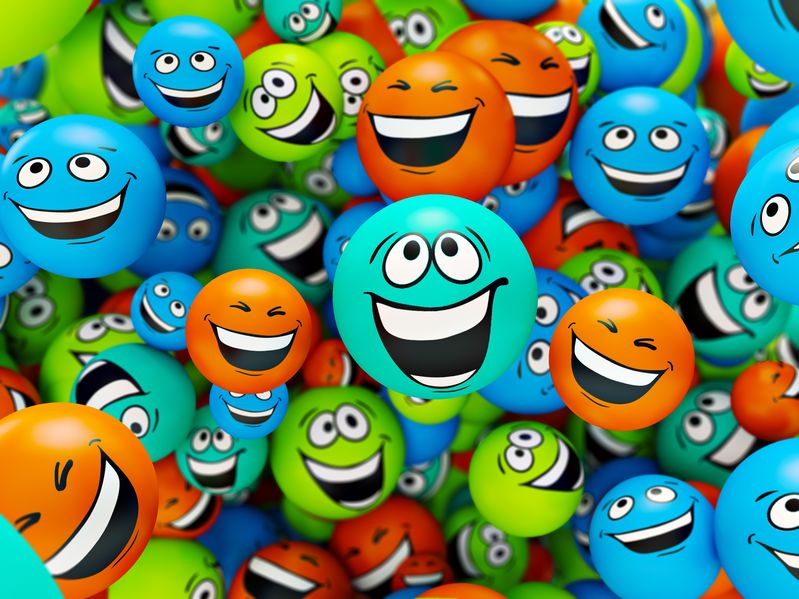 14958365 - funny colorful smiles. positive emotions